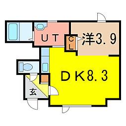 2−1MS A棟 新築[1階]の間取り