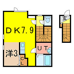 2−1MS B棟 新築[2階]の間取り