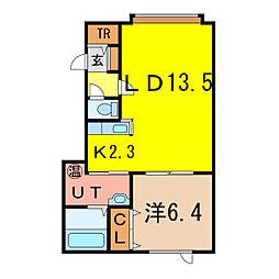 グラシア[2階]の間取り