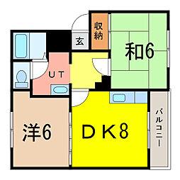 プラザ72 A[2階]の間取り