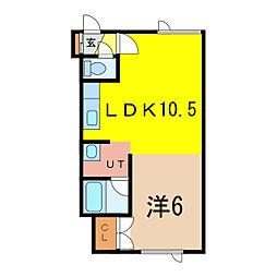 ハミング神居[1階]の間取り