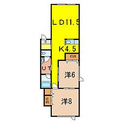 Himawari EAST5.6[2階]の間取り
