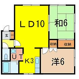 ライラックマンション[2階]の間取り