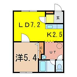 エントランス3・1[2階]の間取り