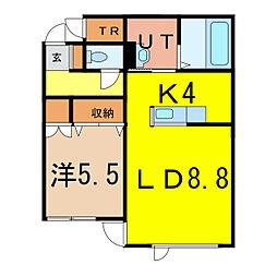 新築 シャルマン旭神[1階]の間取り