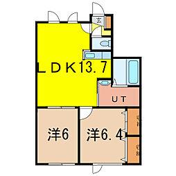 にゃんこハウス[1階]の間取り