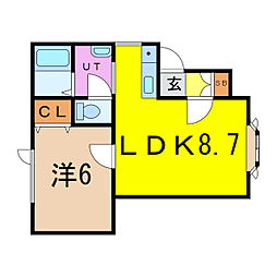 チェリー6.7[2階]の間取り