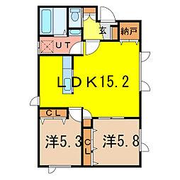 海斗ハウスII[1階]の間取り