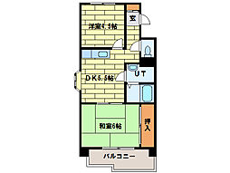 サニーヒルズ3番館[3階]の間取り