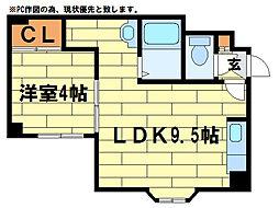 ルミエール澄川(4-1)[3階]の間取り