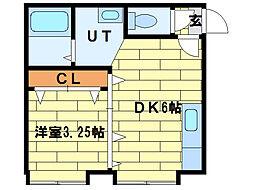 ドエルてん澄川42(旧:ノースキューブIII)[3階]の間取り