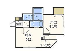 サークルI澄川(B)[2階]の間取り