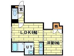 シャトー純連[4階]の間取り