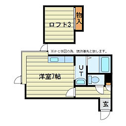 ベストホーム澄川 2階1DKの間取り