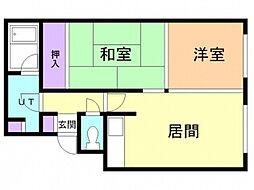 シャトー和田[2階]の間取り
