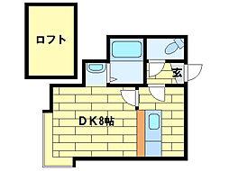 リバーサイド澄川[2階]の間取り