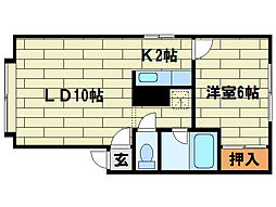 石山クラブハウス[1階]の間取り