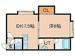 棚橋マンション[2階]の間取り