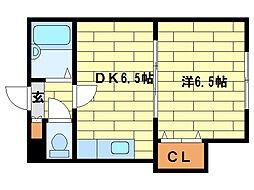 ジュネス札幌[2階]の間取り