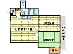 ドリームハウス澄川[3階]の間取り