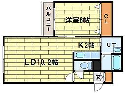 ROSSO[4階]の間取り