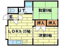 アートホームピア88[3階]の間取り