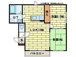 ヴァンヴェール61[4階]の間取り
