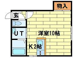 クルーズハウス澄川南[1階]の間取り