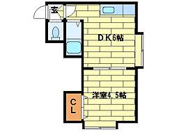 メゾンドユウ[3階]の間取り