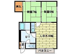 ハイツH・S[3階]の間取り