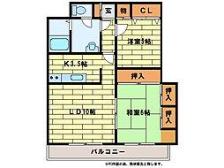 サンライト西岡I[3階]の間取り