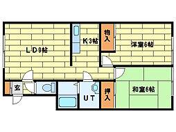 キャッスルハウス[1階]の間取り