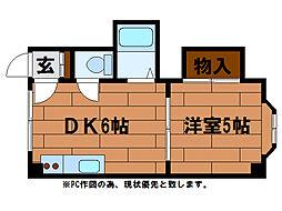 スクウェア[3階]の間取り