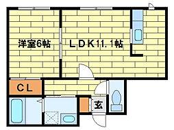 尚武館III[2階]の間取り