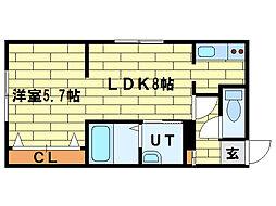 澄川レジデンス[3階]の間取り