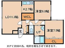 インフィニティ28[1階]の間取り
