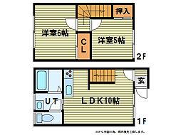 [テラスハウス] 北海道札幌市南区石山二条5丁目 の賃貸【/】の間取り
