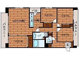 北海道札幌市豊平区平岸一条10丁目の賃貸マンションの間取り
