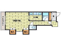 シャレード藤I[2階]の間取り