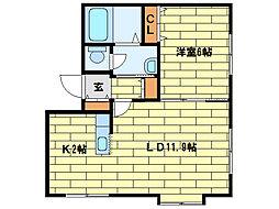 アーデルヴィラ[2階]の間取り