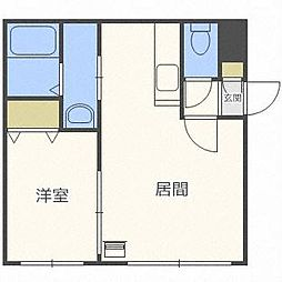 ヌーン澄川(旧ベール澄川)[4階]の間取り