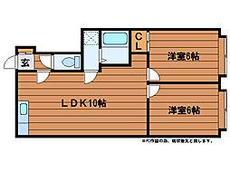 ドリームハイツ(川沿12-4)[2階]の間取り