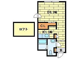 ル・ノール平岸通[4階]の間取り