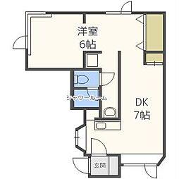 ホワイトハウス(川沿12-2)[2階]の間取り