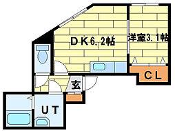 グランパレスK[3階]の間取り