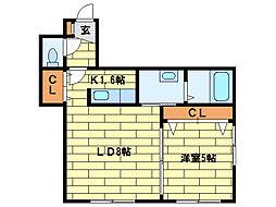 レジナス澄川[1階]の間取り
