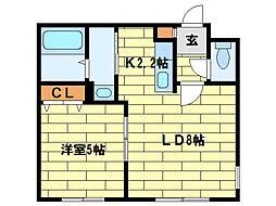 ノースポインツ澄川[205号室]の間取り