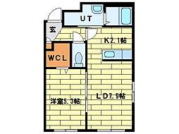 ル・コンフォール[4階]の間取り
