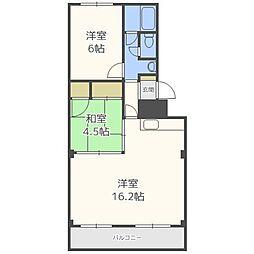 南32条マンション[1階]の間取り
