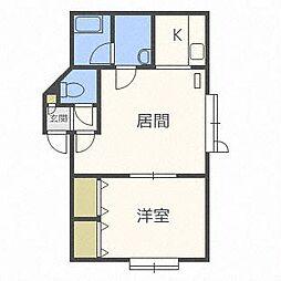 清田レモンハイツII[2階]の間取り